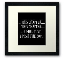 Funny Book Lovers Gift, Reading Lovers Framed Print