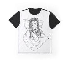 Ganesha Line Art Graphic T-Shirt