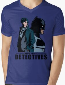 World's Finest Detectives Mens V-Neck T-Shirt