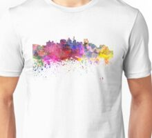 Durban skyline in watercolor background Unisex T-Shirt