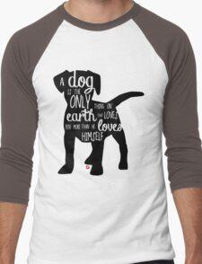 A dog's love - Lettering Men's Baseball ¾ T-Shirt