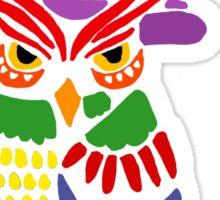 Artistic Fun Owl Wizard Art Sticker