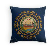 New Hampshire State Flag VINTAGE Throw Pillow