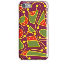 Playful abstraction iPhone Case/Skin