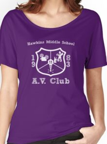 Hawkins Middle School AV Club - White Women's Relaxed Fit T-Shirt