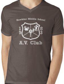 Hawkins Middle School AV Club - White Mens V-Neck T-Shirt
