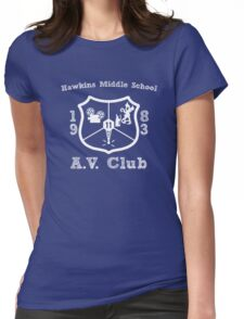 Hawkins Middle School AV Club - White Womens Fitted T-Shirt