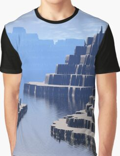 Mysterious Terraced Mountains Graphic T-Shirt