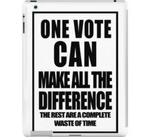 One Vote - black iPad Case/Skin