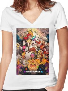 Awesome Undertale Women's Fitted V-Neck T-Shirt