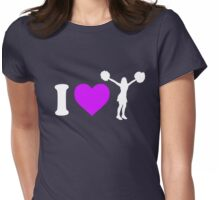 I Heart Cheerleading Womens Fitted T-Shirt