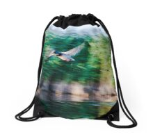 Dynamism of a Mallard Drawstring Bag