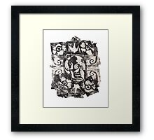 Square Skulls 'N' Roses (extra options) Framed Print