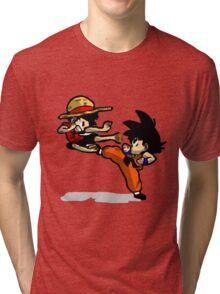 son goku vs luffy Tri-blend T-Shirt