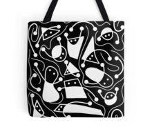 Playful abstract art - black and white Tote Bag