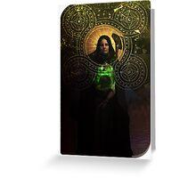 Solas Hermit Tarot Card Cosplay  Greeting Card