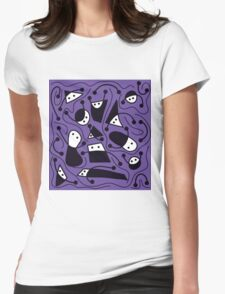 Playful abstract art - purple Womens Fitted T-Shirt