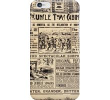 Performing Arts Posters TJ Downs mammoth new Uncle Toms Cabin Co 1949 iPhone Case/Skin