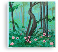 Flowers and Trees Canvas Print