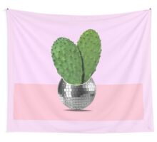 Cactus disco party Wall Tapestry