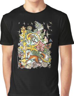 "MYSTICMATRIX The Illustrated Alphabet Capital  R  ""Getting personal""  Graphic T-Shirt"
