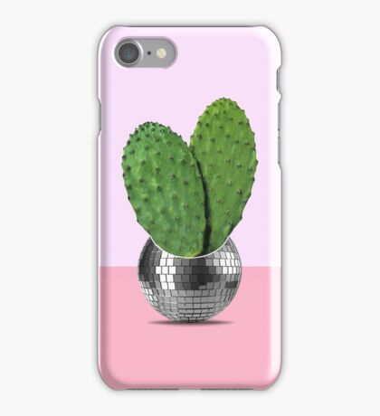 Cactus disco party iPhone Case/Skin