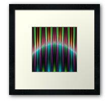 Colourful speed stripes pattern Framed Print