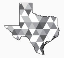Texas - Geometric Grayscale  by CorrieJacobs