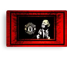 manchester united and sir alex Canvas Print