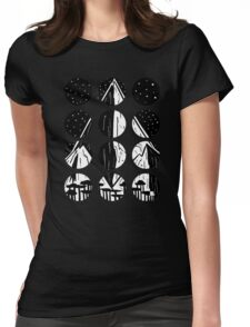 Mountains and Stars Womens Fitted T-Shirt