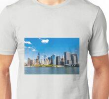 New York City panorama Manhattan Skyline Unisex T-Shirt