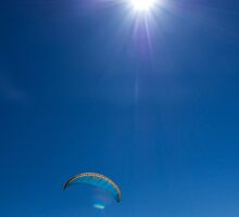 Paragliding (iii) by TonySkerl Photography