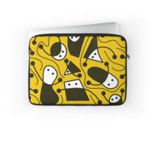Playful abstract art - yellow Laptop Sleeve