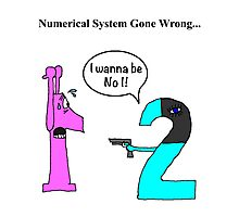 Numerical System Gone Wrong Photographic Print