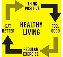 Healthy Living - Diagram Photographic Print