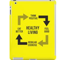 Healthy Living - Diagram iPad Case/Skin