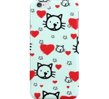 crazy for cats iPhone Case/Skin