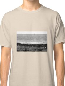 Seagulls rest in black and white Classic T-Shirt