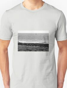 Seagulls rest in black and white Unisex T-Shirt