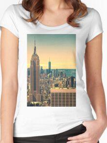 The manhattan skyline Women's Fitted Scoop T-Shirt
