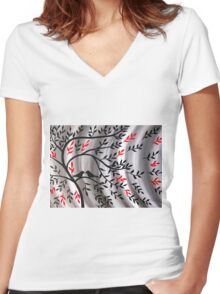 Weathering The Storm Together Women's Fitted V-Neck T-Shirt
