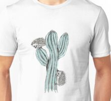 hedgehog on cactus Unisex T-Shirt