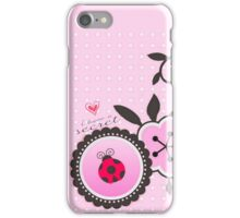 Miraculous Ladybug / Marinette Dupain-Cheng - Pink polka dot flower design iPhone Case/Skin