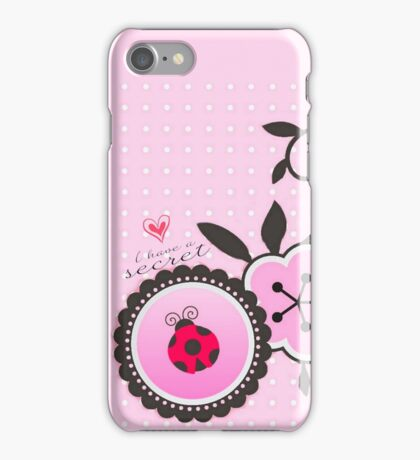 Miraculous Ladybug / Marinette Dupain-Cheng - Pink polka dot flower design iPhone Case/Skin