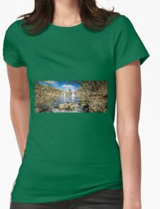 Panorama of Turpin Falls, Victoria Womens Fitted T-Shirt