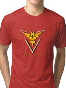 Team Instinct - Praise Zapdos Tri-blend T-Shirt