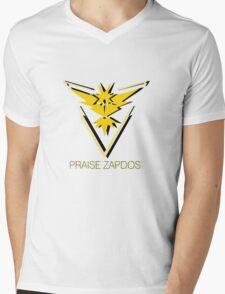 Team Instinct - Praise Zapdos Mens V-Neck T-Shirt