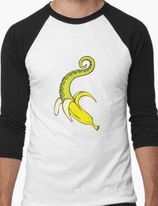 Banana Squid Pink Men's Baseball ¾ T-Shirt
