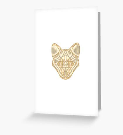 Loup - Wolf Greeting Card