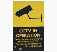 CCTV warning sign One Piece - Short Sleeve